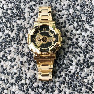 First in the world !! Brand new and 💯% authentic GA110 in CUSTOM full GOLD stainless steel metal , metal g-shock , full metal G-Shock