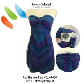 Roxy blue tube dress