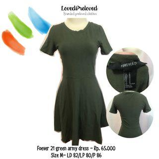 Forever 21 green army dress
