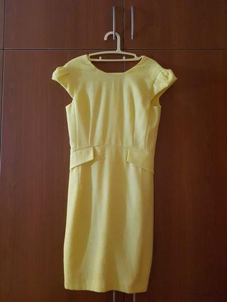 🚚 Pastel Yellow Dress