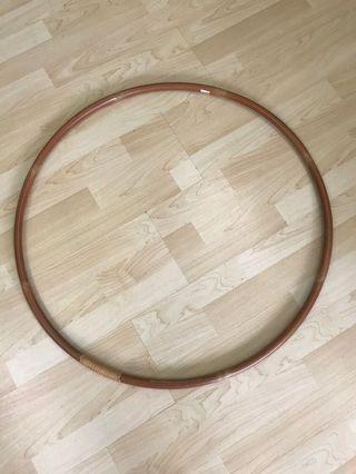 Wooden hula hoop