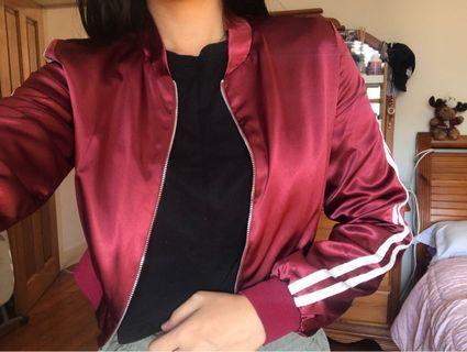 Maroon crop jacket