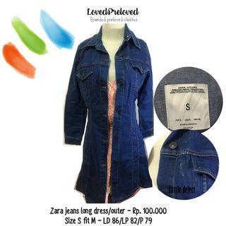 Zara jeans dress/outer