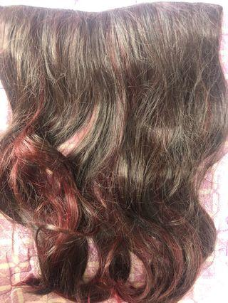 FREE ONGKIR Hairclip Ombre Merah