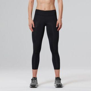 2XU Women Mid-Rise 7/8 Compression Tights (Black dotted)