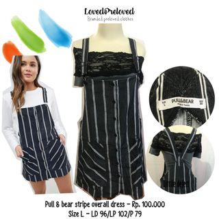 Pull & Bear Stripe overall dress
