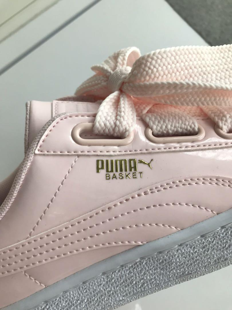 100%新 Puma basket Pink 淺粉紅 漆皮 Size38.5