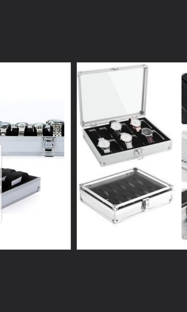 10-12 slot Aluminium Watch Case good quality