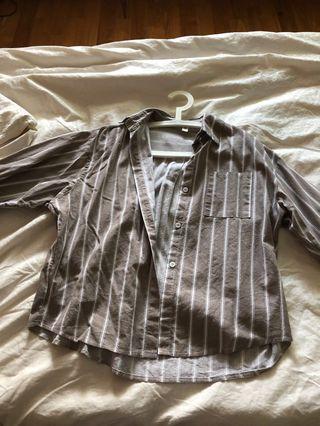 Korean Long sleeve striped top
