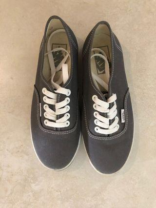 Grey Vans Authentic Womens US 5.5
