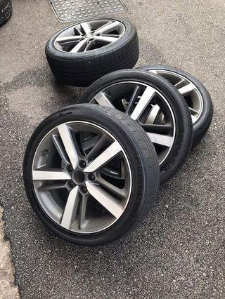 Kia K3 rim and tyres