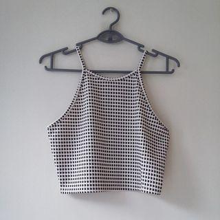TEMT Gingham Halter Crop Top