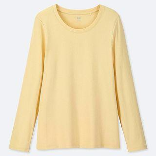 Long-sleeved Yellow Crew Neck T-shirt #EndgameYourExcess
