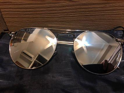 Grey/Silver reflective sunglasses