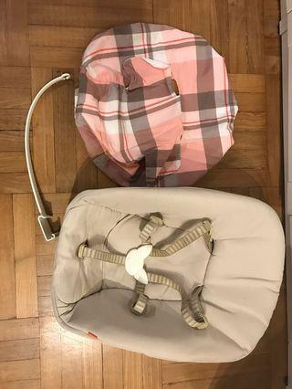 Stoke tripp trapp newborn set with pink cover