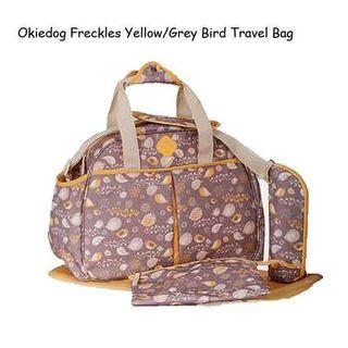 Tas Bayi Okiedog Freckles Baby Travel Bag Yellow/ Grey Bird