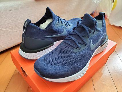 全新 Nike Epic React Flyknit Navy us11