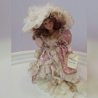 "Porcelain Golden Keepsake 18"" Heirloom Doll"