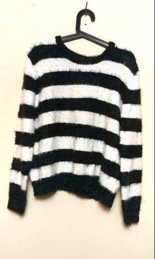 Fluffy Striped Sweater by H&M (M)