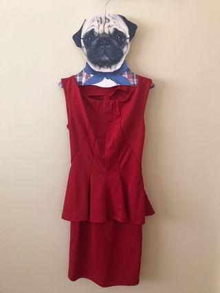🚚 Red Sleeveless Dresses