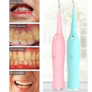 3 Heads Portable Electric Sonic Dental Scaler Tooth Calculus Remover Tooth Stains Tartar Tool Dentist Whiten Teeth Health Hygiene Floss