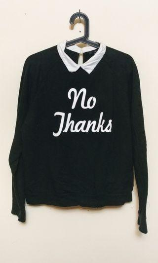 Peter pan collared sweater by F21