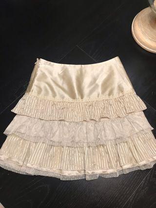 Women's Marciano Silk Champagne Skirt Size 2