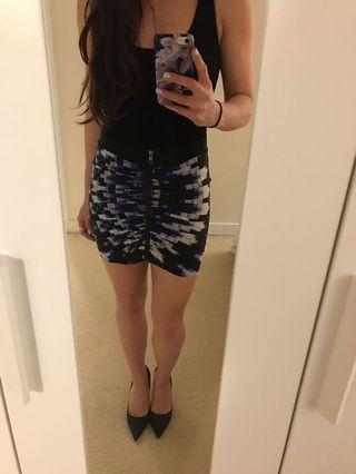 Women's Armani Exchange Printed Skirt Size XS