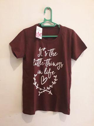 Kaos Maroon Little Things