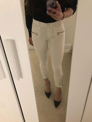 Women's Aritzia White Zip Up Jeans Size 26/25