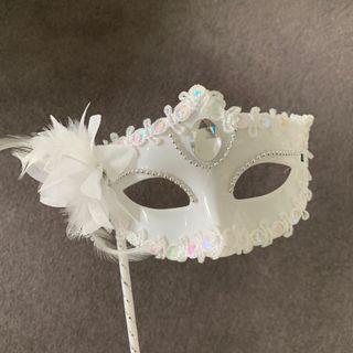 Elegant white Party Mask