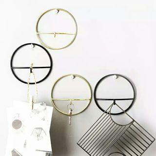 3 PC Wall Hook Decor Minimalist Gold Geometric Symmetry
