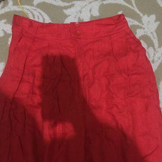 RED PANTS HIGHWAIST