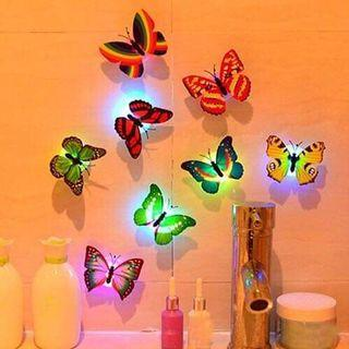 Led glowing butterfly