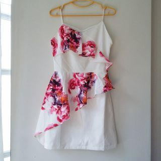 MDS Floral Flutter Dress