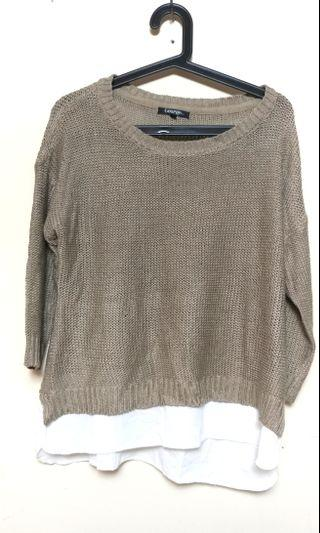 Khaki Knitted Long sleeves (M)