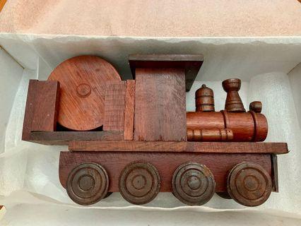 🚚 Wooden train coasters set