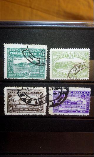1931 India state Charkhari stamps pack of 4 pcs uncommon