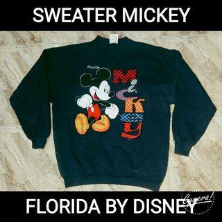 Sweater Vtg 50/50 Mickey Florida
