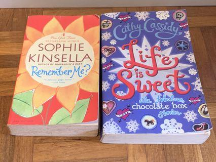 Sophie Kinsella Remember me Cathy Cassidy life is sweet