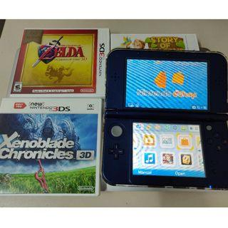 Nintendo 3DS XL Metallic Blue + 2 games