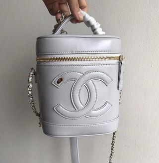 Highest🛍Chanel Lamskin Vanity Case