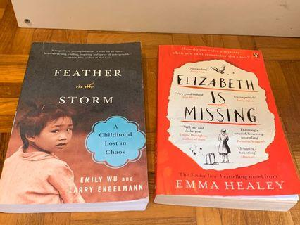 Emma Healey Elizabeth is Missing Emily Wu Feather in the storm bestselling novel