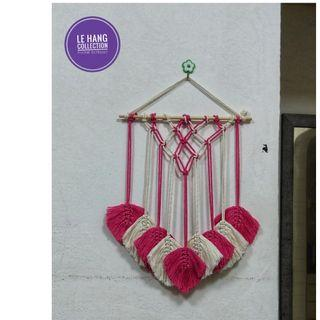 🍂Macrame Feather Decor/Macrame Wall Hanging🍂