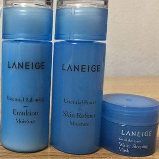 (Brand new) Laneige Essential Care Trial set
