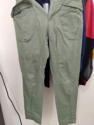 Celana zara trf hijau