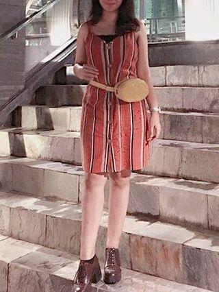 stripe dress catton on