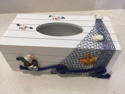 Sea theme tissue box