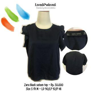 Zara black sateen top