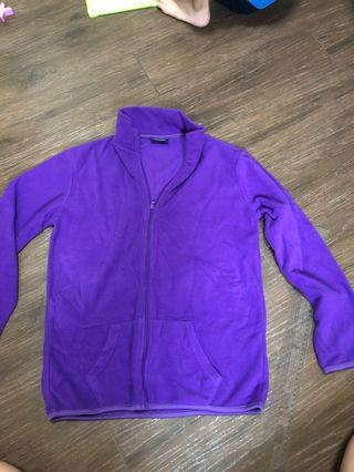Fleece Jacket universal traveller purple jacket for cols weather